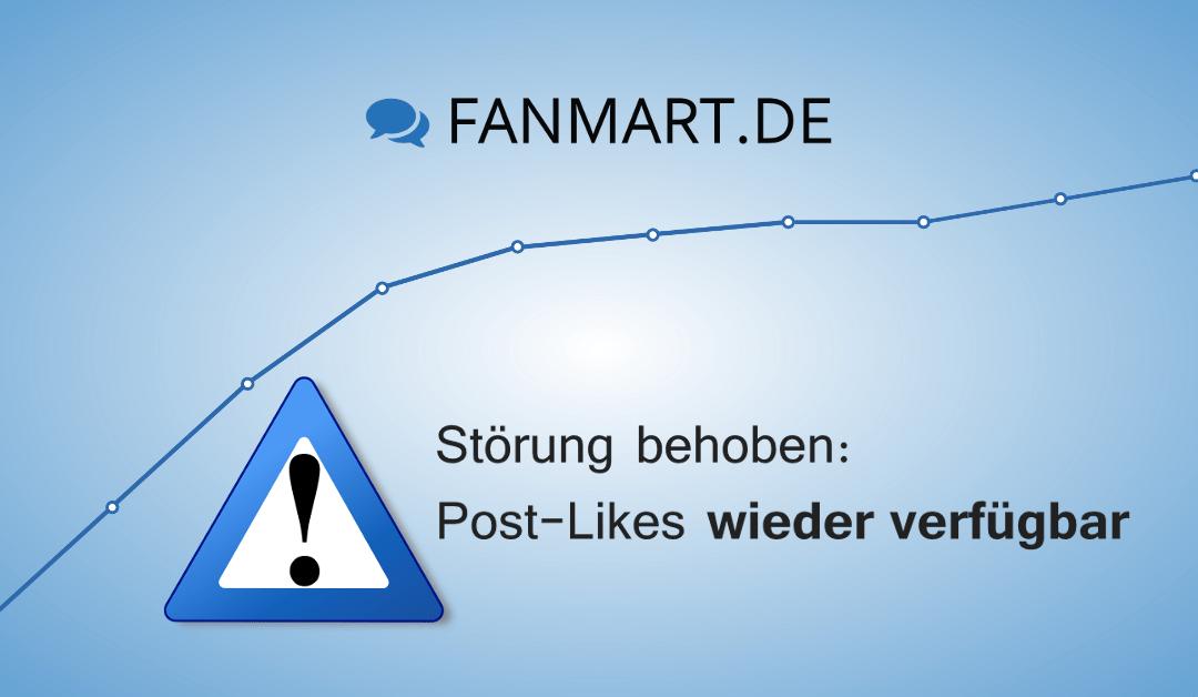 Störung auf FANmart.de
