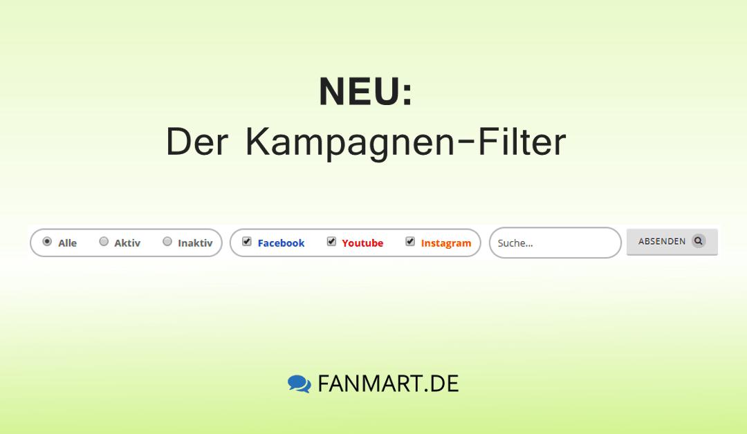 Neue Funktion: Der Kampagnen-Filter
