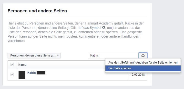 So sperren Sie Fans und User von Ihrer Facebook Fanpage